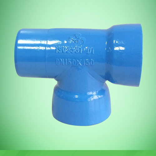 Socket spigot tee with socket branch