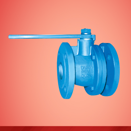 Flange end ball valve